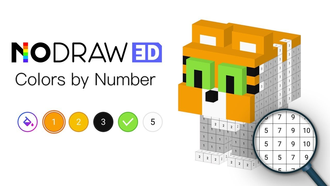Number Coloring – 3D No.Draw