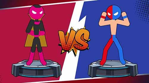 Stick Super: Hero - The stickman shadow fight